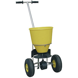 Hand Push Salt Spreader 25kg Capacity with Fast FREE UK Delivery