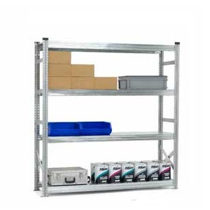 H/D Supershelf Galvanised Steel Shelving Bay With Zinc Finish - 4 Shelves, 1800mm Wide