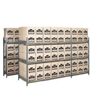 6 Box High Archive Shelving Bays
