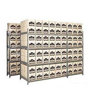 8 Box High Archive Shelving Bays