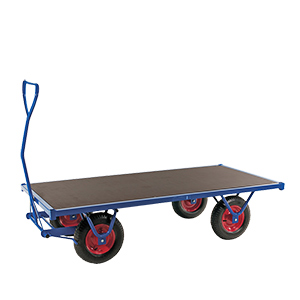Heavy Duty Braked Turntable Truck with 1500kg Capacity