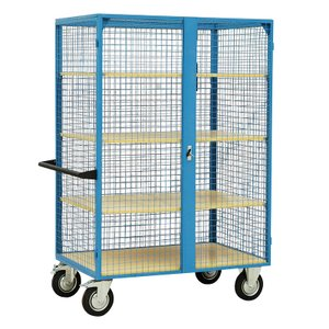 500kg distribution trolley with 3 shelves