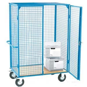 Heavy Duty Distribution Trolley with Plywood Shelf