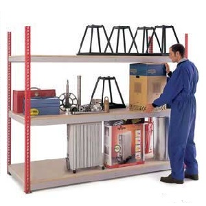 Heavy Duty Just Shelving 1981mm high with 3 shelf levels
