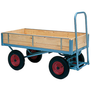 Heavy Duty Turntable Trucks with Timber Platforms