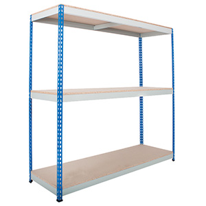 Heavy Rivet Shelving 3 Shelves up to 600kg UDL with FREE UK Delivery