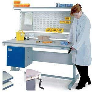 Adjustable height Workbench, Norastat Top