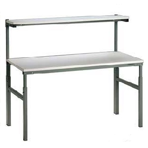 Height Adjustable TPH Bench with Upper Shelf