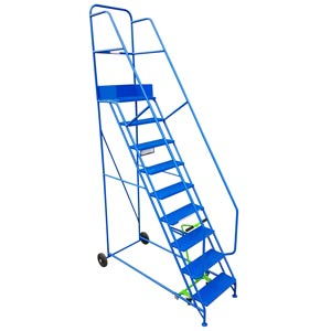 Industrial Warehouse Steps, Steel or PVC Treads, 5-15 Treads