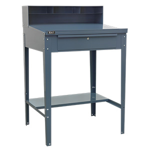 Industrial Workstation with Sloping Top & Lockable Drawer