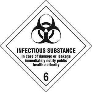 Infectious Substance 6 Diamond Labels