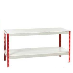 Just Workbenches Melamine Top & Full Under shelf