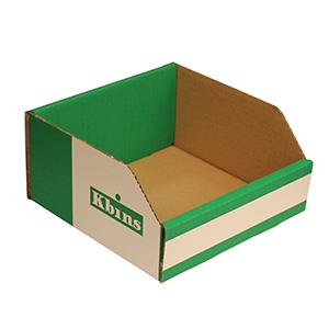 K-Bins - A Range Open Front Fibreboard Shelf Bins