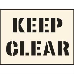 Keep Clear Industrial Stencil