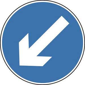 Keep Left Roll-up Sign