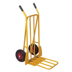 Steel Sack Truck with Fixed and Folding Footiron