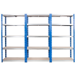 Kwikrack Steel Shelving Bays with 5 Chipboard Shelves with FREE UK Delivery