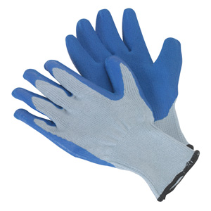 PPE Latex Knitted Wrist Gloves in Packs of 10 with Fast UK Delivery