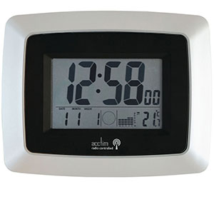 LCD Radio Controlled Wall and Desk Clock