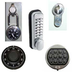 A selection of locks for key cabinets
