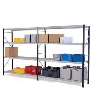 3-Shelf Longspan Shelving Bays with Chipboard Decks