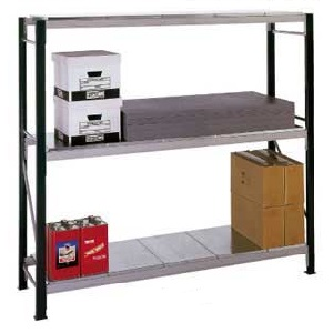 Longspan Shelving Bays 3 Galvanised Steel Decks/Shelves