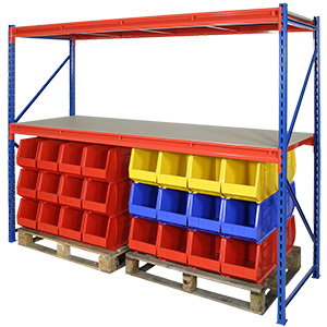 Heavy Duty Longspan Racking Starter Bays with 3 Shelves with FREE UK Delivery