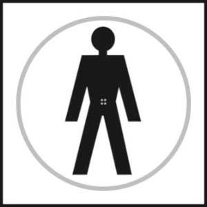 Male Toilet Symbols Braille Sign