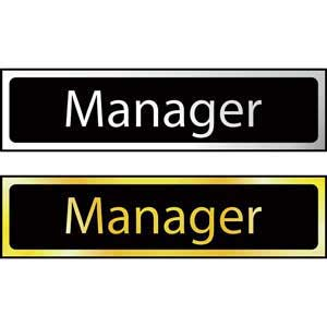 Manager Mini Sign
