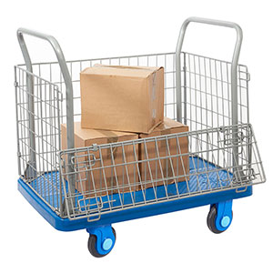 Mesh Platform Trolleys with Silent Castors