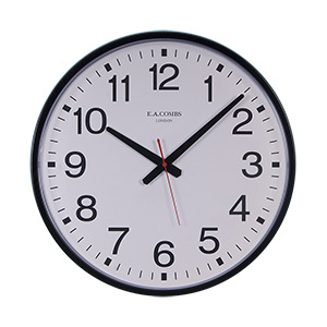 Metal Case Wall Clock 12 Hour Dial