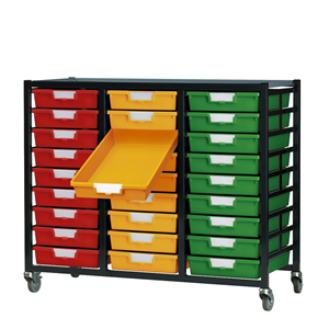Metal Racks with Plastic Storage Trays