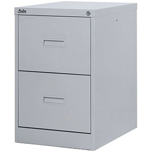 Midi Filing Cabinets with 2, 3, 4 Drawers in Grey and Black