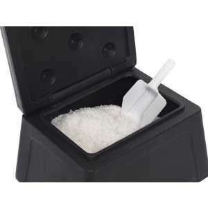 Mini Grit Bin with 10kg Salt and scoop