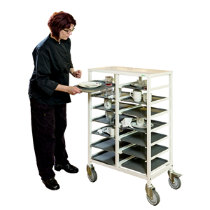 Mobile Catering Trolley 14 Tray Slots