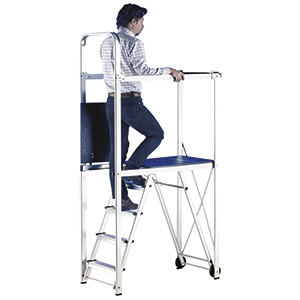 Mobile Folding Work Platform with 150kg capacity with FREE UK Delivery