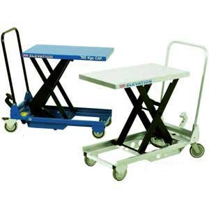 Mobile single scissor lift table