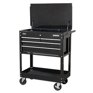 Mobile Tool & Parts Trolley with 4 Drawers & Lockable Top