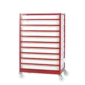 Mobile Tray Racks - Complete With Trays