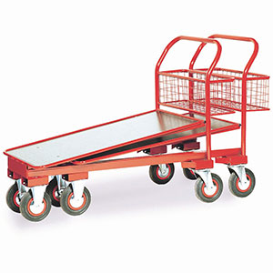 Nesting Cash and Carry Trolleys, with Basket Option