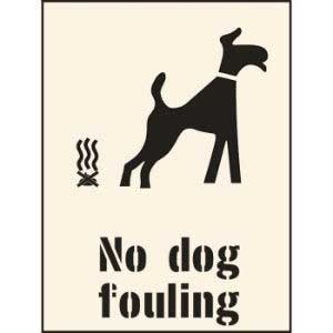 No Dog Fouling Industrial Stencil