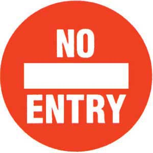 No Entry Graphic Floor Marker