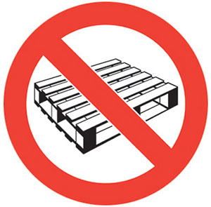 No Pallets Graphic Floor Marker