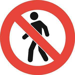 No Pedestrian / People Graphic Floor Marker