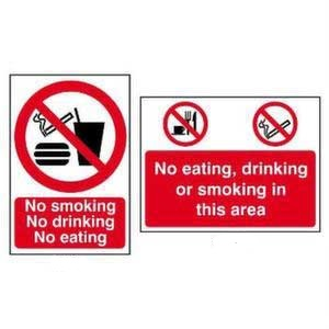 No Smoking - No Drinking - No Eating Sign