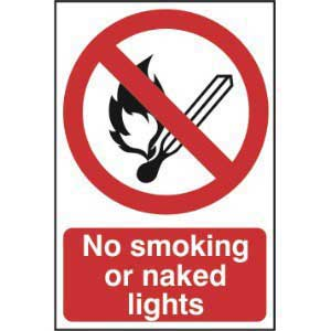 Signs & Labels 400x600mm Highly Flammable No Smoking No
