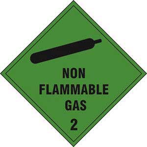 Non Flammable Gas 2 Diamond Labels