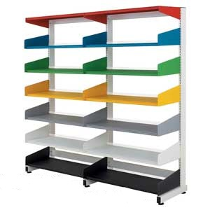 Office/Library Shelving Single Sided 900w