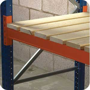 Open Boarded Timber Decking for Pallet Racking