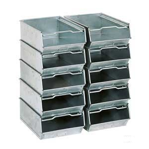 Galvanised Vista Bins